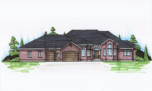 House Plan 79832 | European Style Plan with 2624 Sq Ft, 7 Bedrooms, 6 Bathrooms, 3 Car Garage Elevation