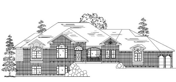 House Plan 79842 | European Style Plan with 2758 Sq Ft, 2 Bedrooms, 4 Bathrooms, 3 Car Garage Elevation