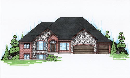 House Plan 79845 | European Style Plan with 2792 Sq Ft, 4 Bedrooms, 4 Bathrooms, 3 Car Garage Elevation