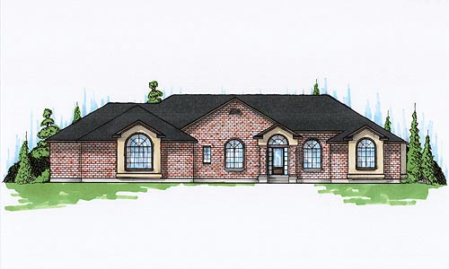 House Plan 79848 | European Style Plan with 2811 Sq Ft, 4 Bedrooms, 3 Bathrooms, 3 Car Garage Elevation