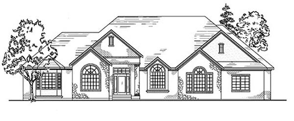 House Plan 79849 | European Style Plan with 2821 Sq Ft, 4 Bedrooms, 2 Bathrooms, 3 Car Garage Elevation