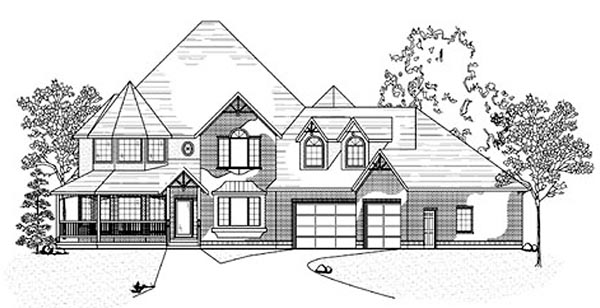 Victorian House Plan 79924 with 5 Beds, 5 Baths, 3 Car Garage Elevation
