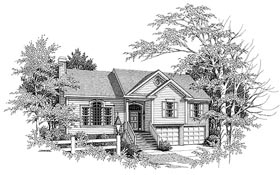 Plan Number 80122 - 1411 Square Feet