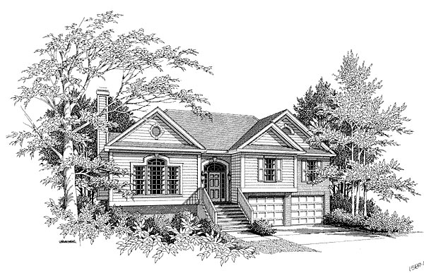 Traditional Elevation of Plan 80123
