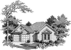 Plan Number 80126 - 1418 Square Feet