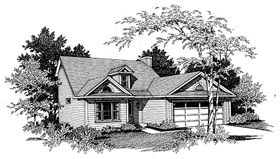 Plan Number 80127 - 1443 Square Feet