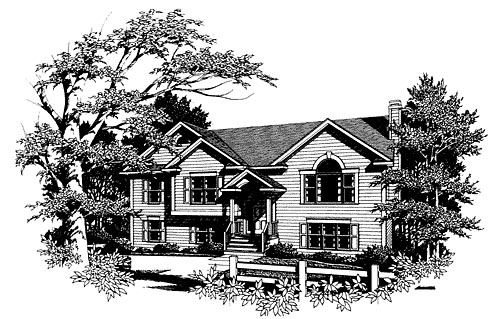 Traditional Elevation of Plan 80128