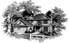 Colonial House Plan 80133 Elevation