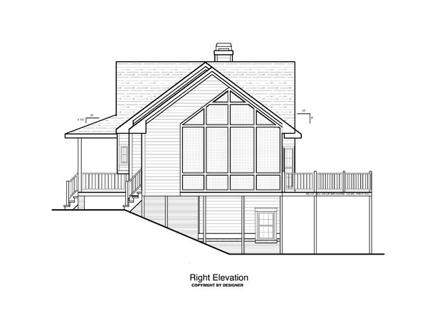 Cottage House Plan 80152 with 3 Beds, 3 Baths, 2 Car Garage Picture 2