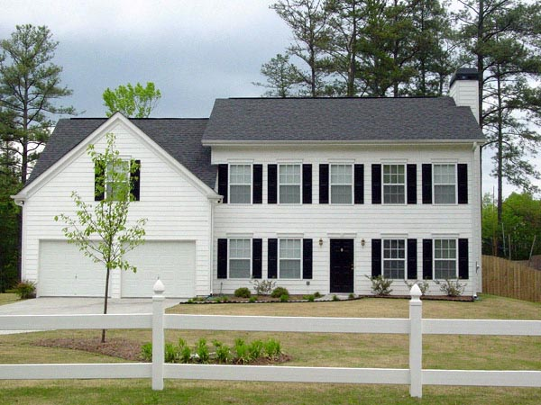 Colonial, Southern, Traditional House Plan 80169 with 3 Beds, 3 Baths, 2 Car Garage Elevation