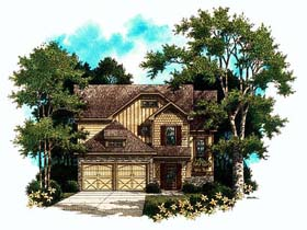 House Plan 80177 | Craftsman Style House Plan with 1904 Sq Ft, 3 Bed, 2 Bath, 2 Car Garage Elevation