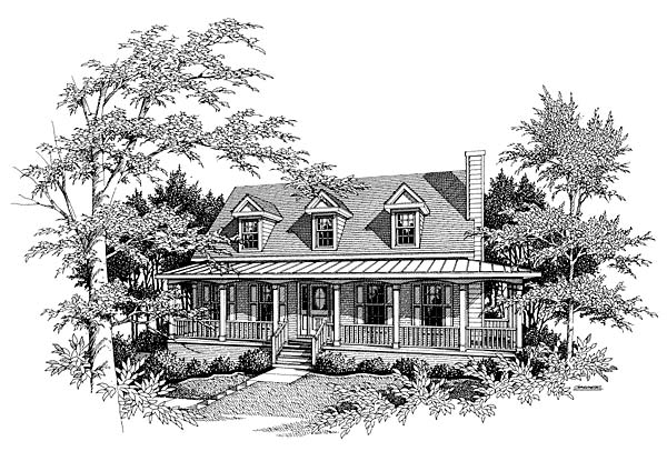 Country House Plan 80181 Elevation