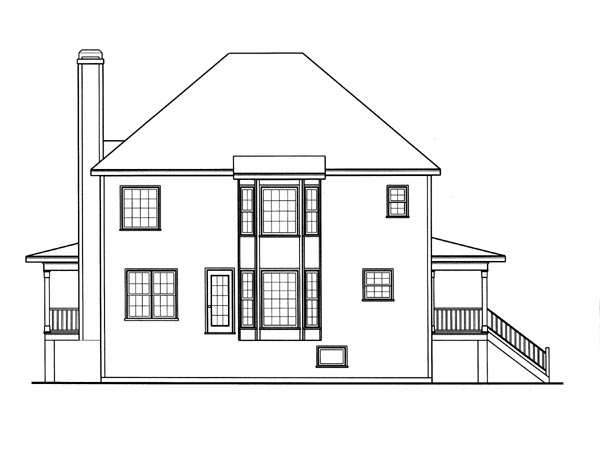 Southern House Plan 80185 Rear Elevation