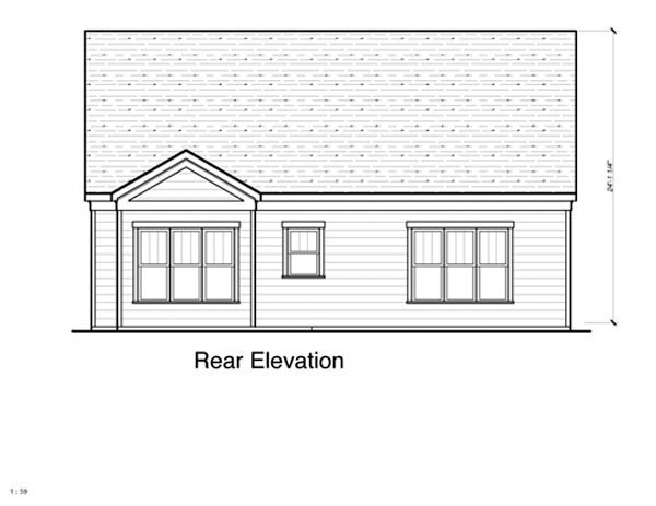 Cottage House Plan 80191 Rear Elevation