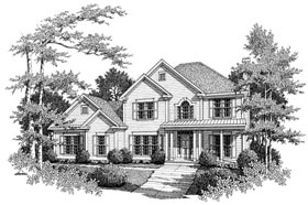 Traditional House Plan 80194 Elevation
