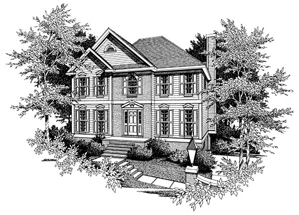 Traditional House Plan 80197 Elevation