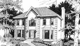 Historic House Plan 80198 Elevation