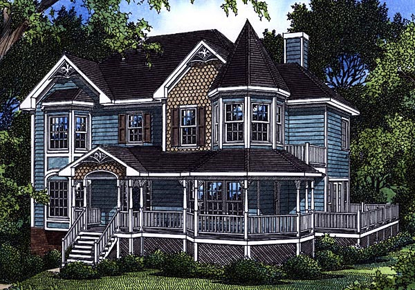 Victorian House Plan 80199 Elevation