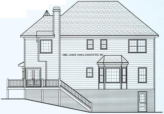 Victorian House Plan 80199 Rear Elevation