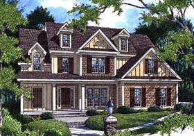 Cottage House Plan 80205 with 4 Beds, 3 Baths, 2 Car Garage Elevation