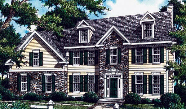 Colonial House Plan 80209 Elevation