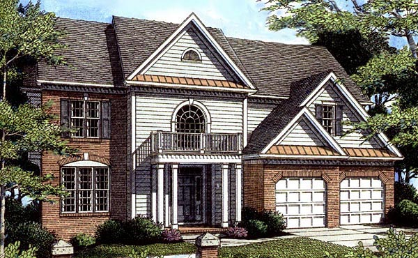 Colonial House Plan 80210 Elevation