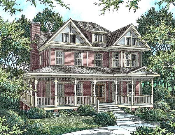 Victorian House Plan 80214 Elevation