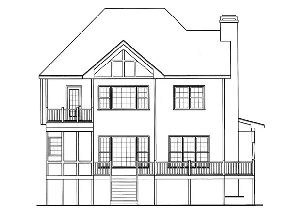 Victorian House Plan 80214 Rear Elevation