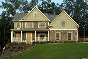 House Plan 80216 | Farmhouse Style Plan with 2706 Sq Ft, 3 Bedrooms, 3 Bathrooms, 2 Car Garage Elevation