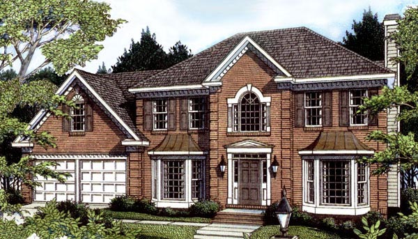 Colonial House Plan 80217 Elevation