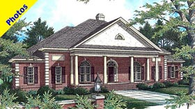 House Plan 80220 | Colonial Style Plan with 2788 Sq Ft, 3 Bedrooms, 3 Bathrooms, 2 Car Garage Elevation