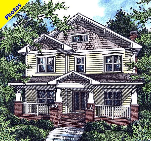 Craftsman House Plan 80221 Elevation