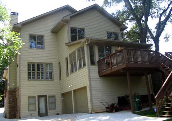 Craftsman House Plan 80221 with 3 Beds, 3 Baths, 2 Car Garage Rear Elevation