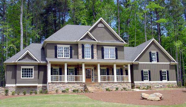 Southern House Plan 80223 with 4 Beds, 4 Baths, 2 Car Garage Elevation