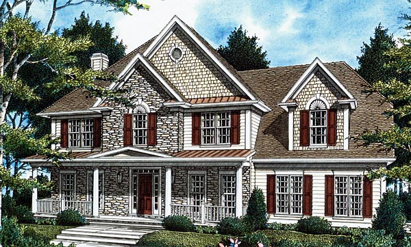 Southern House Plan 80225 with 4 Beds, 4 Baths, 2 Car Garage Elevation