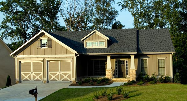 Cottage House Plan 80228 with 4 Beds, 3 Baths, 2 Car Garage Front Elevation