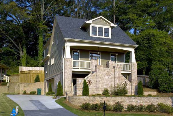 Craftsman House Plan 80231 with 4 Beds, 4 Baths, 2 Car Garage Elevation