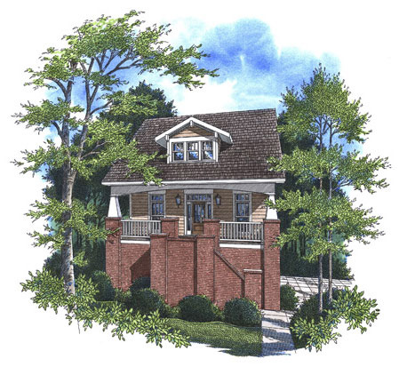 Craftsman House Plan 80231 with 4 Beds, 4 Baths, 2 Car Garage Picture 1