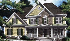 Southern House Plan 80234 with 5 Beds, 4 Baths, 2 Car Garage Elevation