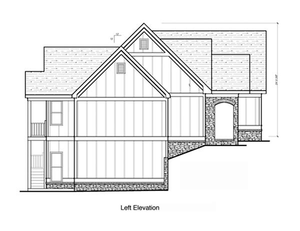 Craftsman House Plan 80239 with 4 Beds, 3 Baths, 2 Car Garage Picture 1