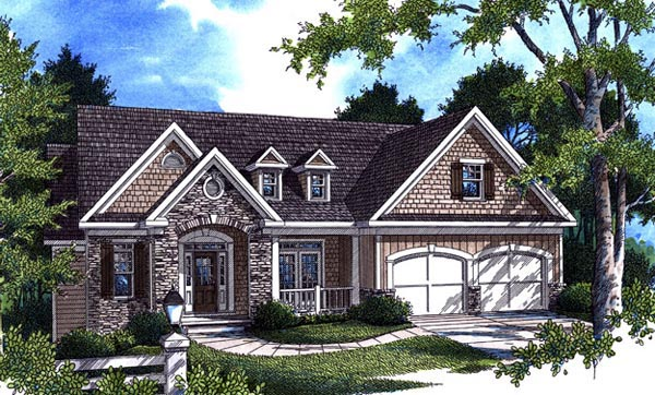 Craftsman House Plan 80239 with 4 Beds, 3 Baths, 2 Car Garage Picture 6