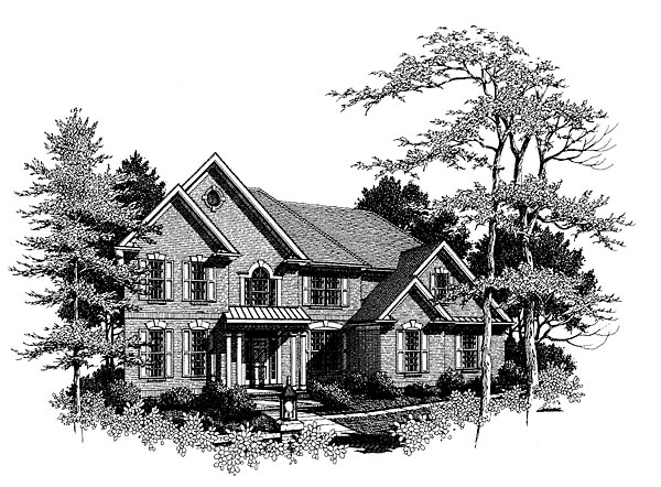 Traditional Elevation of Plan 80240