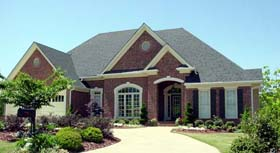 European House Plan 80241 with 3 Beds, 4 Baths, 2 Car Garage Elevation