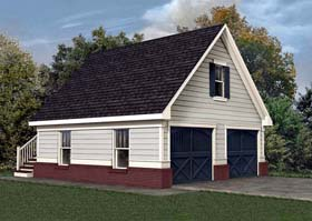2 Car Garage Apartment Plan 80245 Elevation