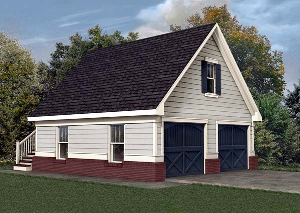 Garage Plan 80245 Elevation