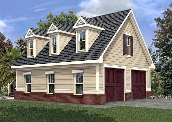 Garage Plan 80246 Elevation