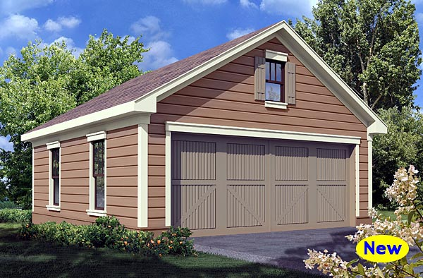Traditional Garage Plan 80248 Elevation