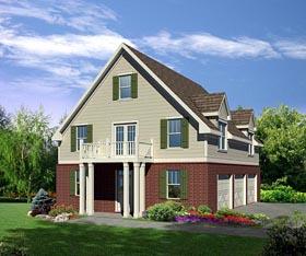 Cottage Garage Plan 80251 Elevation