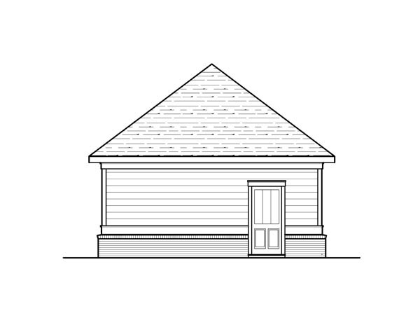 Cottage Rear Elevation of Plan 80253