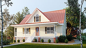Cottage Country Southern Traditional House Plan 80255 Elevation